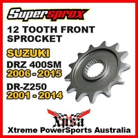 SUPERSPROX FRONT SPROCKET 12T For Suzuki DRZ 400SM DRZ400SM 06-2015 DRZ250 250 01-14