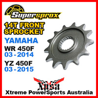 SUPERSPROX FRONT SPROCKET 14T YAMAHA WR 450F WR450F 03-2014 YZ450F YZ 03-2015