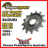 SUPERSPROX FRONT SPROCKET 14T SUZUKI RM 80 RM80 RM85 85 1989-2015 MX MOTOCROSS