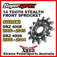 SUPERSPROX FRONT SPROCKET 14T STEALTH DRZ 400E DRZ400E 00-15 400S DRZ400S 00-14