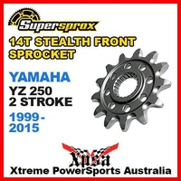 SUPERSPROX FRONT SPROCKET STEALTH 14T YAMAHA YZ 250 YZ250 2 STROKE 1999-2015 MX