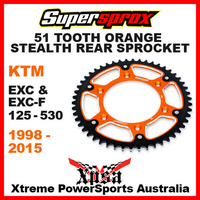 SUPERSPROX STEALTH REAR SPROCKET 51T EXC F 125 200 250 350 450 500 525 530 98-15