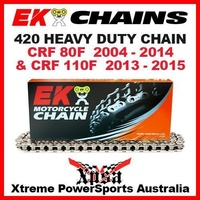 EK MX HEAVY DUTY 420 GREY CHAIN HONDA CRF 80F CRF80F 04-2014 CRF110F 110F 13-15
