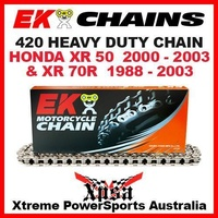 EK MX HEAVY DUTY 420 GREY CHAIN HONDA XR 50 XR50 2000-2003 XR70R 70R 1988-2003