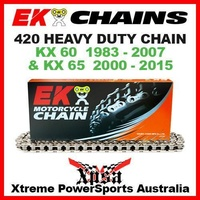 EK MX HEAVY DUTY 420 GREY CHAIN KAWASAKI KX 60 KX60 1983-2007 KX65 65 2000-2015
