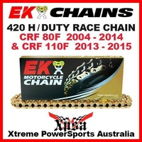 EK MX H/DUTY RACE RACING 420 GOLD CHAIN HONDA CRF 80F 04-2014 CRF 110F 13-15