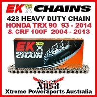 EK MX HEAVY DUTY 428 GREY CHAIN HONDA TRX 90 1993-2014 CRF 100F 2004-2013 ATV