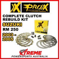 ProX For Suzuki RM250 RM 250 2003-2005 Complete Clutch Rebuild Kit 16.CPS33003