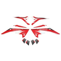 Factory Effex 18-01336 CRF250 CRF 250 10-13, CRF450 CRF 450 09-12 Red EVO Shroud Graphics Kit