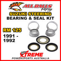 22-1001 Suzuki RM125 RM 125 1991-1992 Steering Head Stem Bearing & Seal Kit
