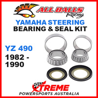 ALL BALLS 22-1004 STEERING HEAD STEM BEARING KIT YAMAHA YZ490 YZ 490 1982-1990