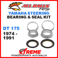 ALL BALLS 22-1008 STEERING HEAD STEM BEARING KIT YAMAHA DT175 DT 175 1974-1991