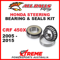MX Steering Head Bearing Kit Honda CRF450X CRF 450X 2005-2015, All Balls 22-1010