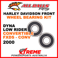 25-1368 HD Dyna Low Rider Convertible FXDS-CONV 2000 Front Wheel Bearing Kit
