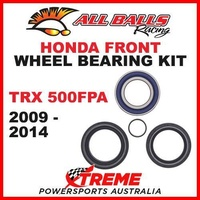 Front Wheel Bearing Kit Honda ATV TRX500FPA TRX 500FPA 2009-2014, All Balls 25-1572