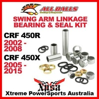 Swing Arm Linkage Bearing Kit CRF 450R 02-2008 450X 05-2015 MX, All Balls 27-1005