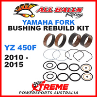 ALL BALLS 38-6075 MX OFF ROAD FORK BUSHING KIT YAMAHA YZ450F YZF450 2010-2015