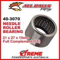 All Balls 40-3070 Needle Roller Bearing 21x27x15 Full Complement FC