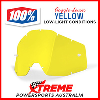 51001-004-02 100 Percent RACECRAFT/ACCURI/STRATA Replacement Lens Yellow
