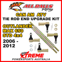 52-1024 Can AM Outlander 650 STD 4x4 2006-2012 Tie Rod End Upgrade Kit