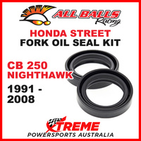 All Balls 55-104 Honda CB 250 Nighthawk 1991-2008 Fork Oil Seal Kit 31x43x10