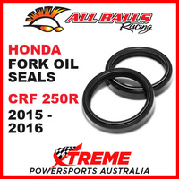 All Balls 55-129 Honda CRF250R CRF 250R 2015-2016 Fork Oil Seal Kit 49x60x10