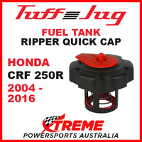 Honda CRF250R CRF 250R 2004-2016 Fuel Gas Tank Tuff Jug Quick Cap Black Red