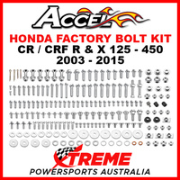 193 Piece Honda CR CRF R X Complete Factory Bolt & Fastener Hardware Kit Accel