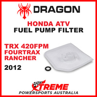 Whites TRX420FPM FOURTRAX RANCHER  2012 ATV HONDA FUEL PUMP FILTER SQUARE STYLE