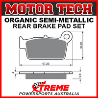 Motor Tech Aprilia SXV450 2006-2008 Semi-Metallic Rear Brake Pad FA367