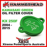 HAMMERHEAD GREEN OIL FILTER COVER KAWASAKI KX250F KX 250F KXF250 2004-2015 MX