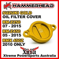 HAMMERHEAD GOLD OIL FILTER COVER SUZUKI RM Z250 07-15 Z450 05-2015 RMX450Z 2010