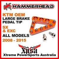 KTM OEM / HAMMERHEAD CNC REAR BRAKE PEDAL TIP LARGE ORANGE SX EXC ALL 2008-2015