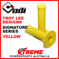 ODI Troy Lee TLD Yellow Signature Series Diamond Pattern MX Grips H00TL-Y