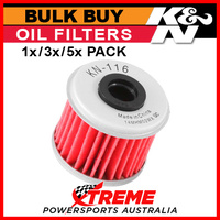 K&N Oil Filter 1,3,5x Buy for Honda CRF250R 2004-2020 Replaces 15412-MEN-671