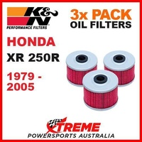 3 PACK K&N MX OIL FILTERS HONDA XR250R XR 250R 1979-2005 TRAIL DIRT BIKE KN 112