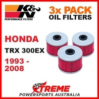 3 PACK K&N MX OIL FILTERS HONDA TRX300EX TRX 300EX 1993-2008 ATV OFF ROAD KN 113