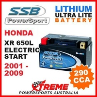 SSB 12V LITHIUM ULTRALITE 290 CCA BATTERY HONDA XR650L XR 650L ELECTRIC 01-2009