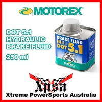 MOTOREX DOT 5.1 HYDRAULIC BRAKE FLUID 250ml HIGH PERFORMANCE GENUINE MX