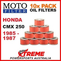 10 PACK MOTO FILTER OIL FILTERS HONDA CMX250 CMX 250 1985-1987 MOTORCYCLE