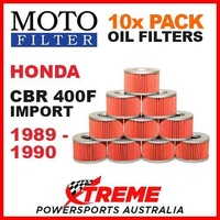 10 PACK MOTO FILTER OIL FILTERS HONDA CBR400F CBR 400F IMPORT 1989-1990 ROADBIKE