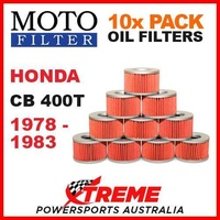 10 PACK MOTO FILTER OIL FILTERS HONDA CB400T CB 400T 1978-1983 MOTORCYCLE