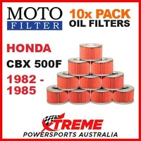 10 PACK MOTO FILTER OIL FILTERS HONDA CBX500F CBX 500F 1982-1985 MOTORCYCLE
