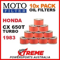 10 PACK MOTO FILTER OIL FILTERS HONDA CX650T CX 650T TURBO 1983 MOTORCYCLE