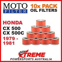 10 PACK MOTO FILTER OIL FILTERS HONDA CX500 CX500C CX 500 CX 500C 1979-1981