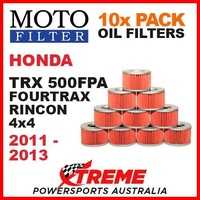 10 PACK MOTO FILTER OIL FILTERS HONDA TRX500FPA TRX 500FPA RINCON 4WD 2011-2013