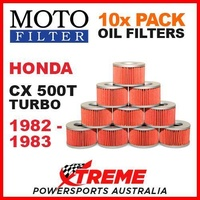 10 PACK MOTO FILTER OIL FILTERS HONDA CX500T CX 500T TURBO 1982-1983 MOTORCYCLE