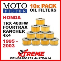 10 PACK MX MOTO FILTER OIL FILTERS HONDA TRX400FW FOURTRAX RANCHER 4x4 1995-2003