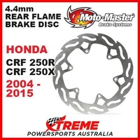 MOTO MASTER 4.4mm REAR FLAME BRAKE ROTOR HONDA CRF250R 250R CRF250X 250X 04-2015