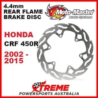 MOTO MASTER 4.4mm REAR FLAME BRAKE DISC ROTOR HONDA CRF450R CRF 450R 2002-2015